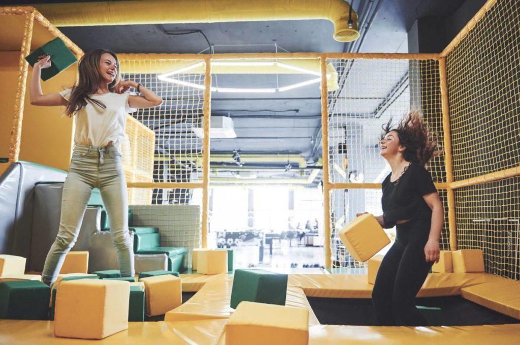 are indoor trampoline parks safe
