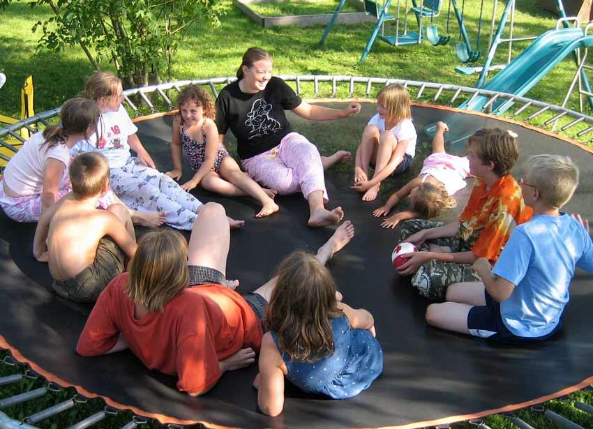 trampoline family